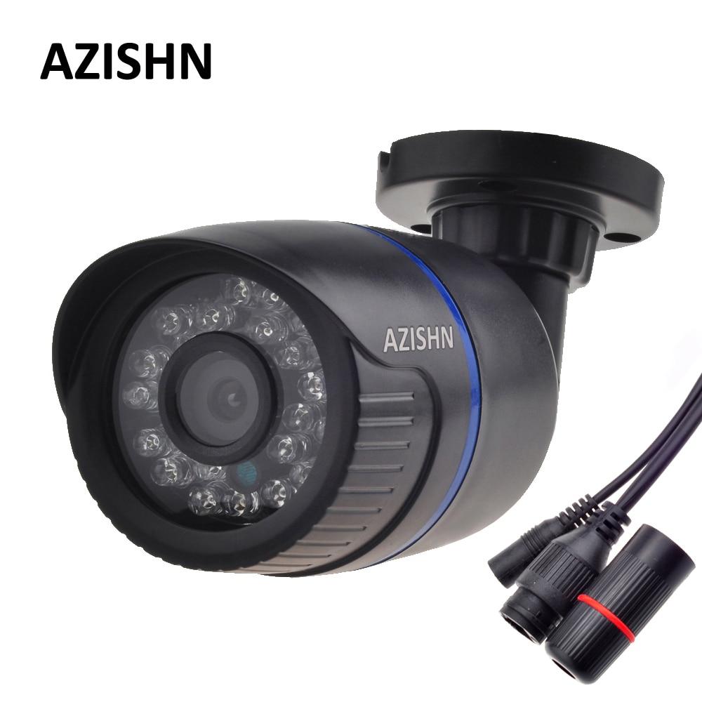 AZISHN H.264 FULL HD 1080 P 2.0 Mégapixels de Sécurité IP Caméra HI3518E 24IR LED ABS En Plastique En Plein Air Caméra IP 1080 P DC 12 V/48 V PoE