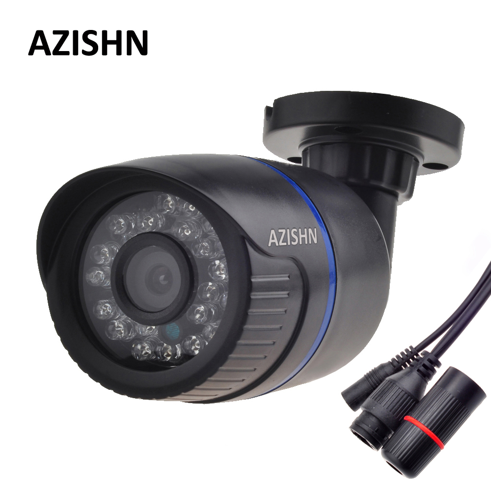 AZISHN H 264 FULL HD 1080P 2 0 Megapixel Security IP Camera HI3518E 24IR LEDS ABS