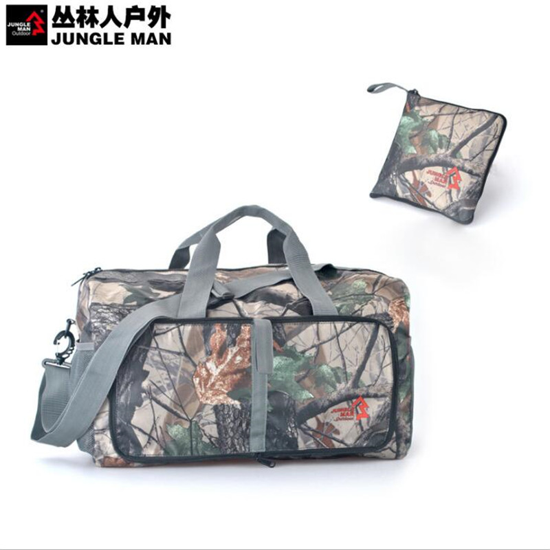JUNGLE MEN Camouflage Large Capacity Folding Bags Outdoo Travel Movement Shoulder Bag Handbag T248