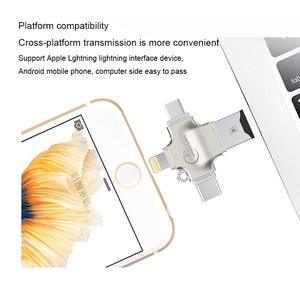 Image 3 - Ingelon SD כרטיס קורא מיקרו כרטיס מתאם מתכת USB 3.0 microsdhc/sdxc כדי xqd Cardreader OTG adaptador usb עבור ברק מתאם