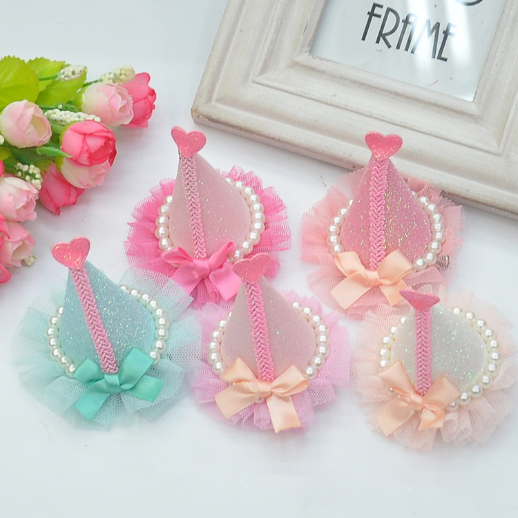 2014 Baby Hair Accessories Clip Headband My Little Winky Children Hairpin Lace Birthday Hat Flat In From