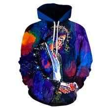 Michael Jackson Print 3D Hoodies Sweatshirt Jacket Men Women Long Sleeve Pullovers Funny 3d Print Tracksuit Commemorative Hoodie 3d graphic print emboss long sleeve sweatshirt