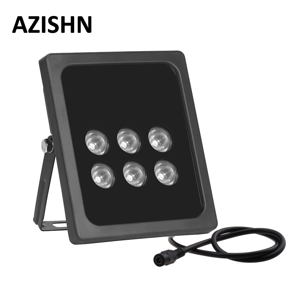 AZISHN CCTV 6pcs Array LEDS  IR illuminator infrared Outdoor Waterproof  Night Vision CCTV Fill Light for CCTV  Camera IP camera azishn cctv 12pcs array leds ir illuminator infrared outdoor waterproof night vision cctv fill light for cctv security camera