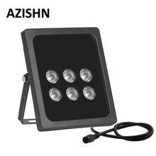 AZISHN CCTV 6pcs Array LEDS  IR illuminator infrared Outdoor Waterproof  Night Vision CCTV Fill Light for CCTV  Camera IP camera