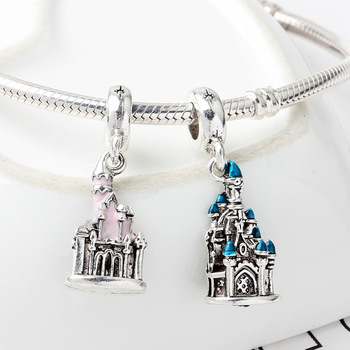 Free Shipping Sliver Plated Bead Mickey Fairytale Dumbo Love Charm Fit Pandora Bracelet Necklace 1