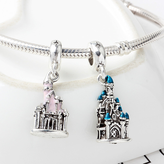 New Original Free Shipping Sliver Plated Bead Mickey Fairytale Dumbo Love Charm Fit Pandora Bracelet Necklace DIY Women Jewelry 1