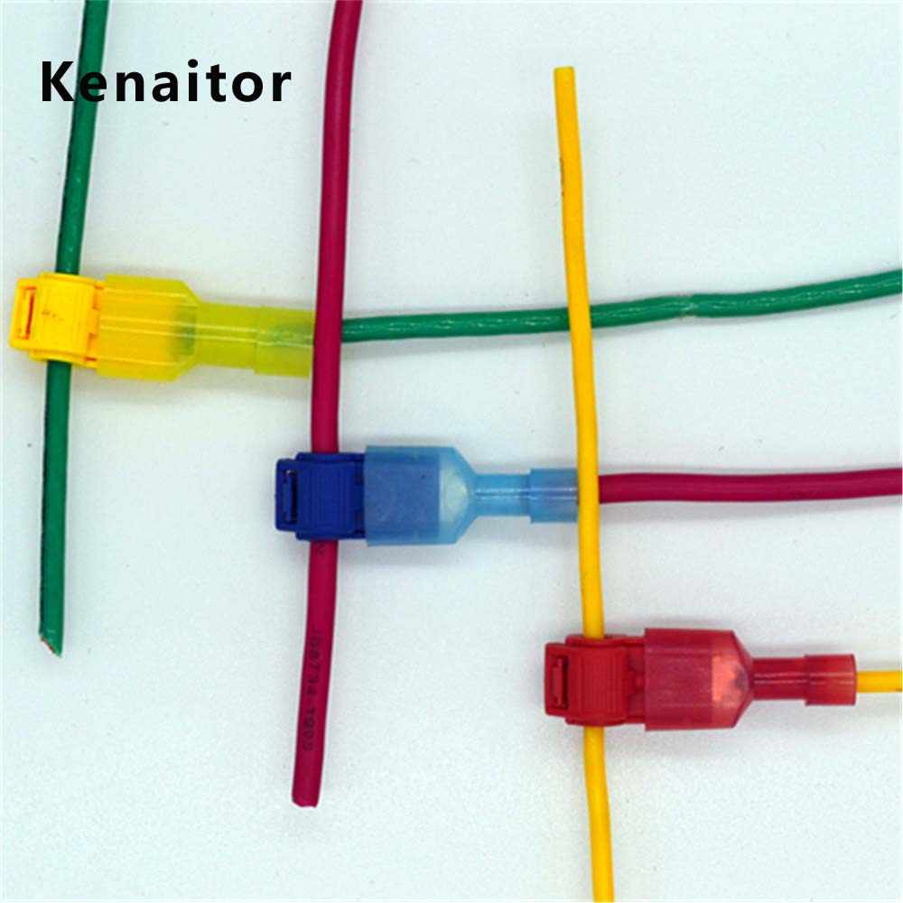 hight resolution of  30pcs 15set wire cable connectors terminals crimp scotch lock quick splice electrical car audio