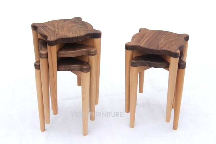 Liefde Walnoot Hout : Moderne ontwerp stapelbaar effen zwarte walnoot hout en beukenhout