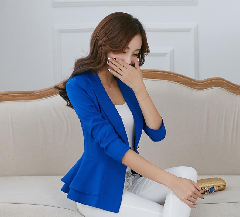 100% Wahr 2019 Neue Ankunft Mode Frühling Frauen Blazer Und Jacken Candy Farbe Solide Blazer Femme Koreanische Plus Größe Rüsche Anzug Jacke