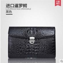 gete New real crocodile leather handbags men business men clutches crocodile skin bag envelope bag men bag