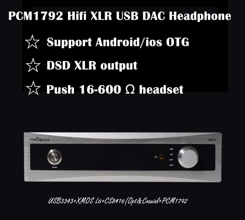 2018 New Nobsound Hifi PCM1792 DSD XLR DAC Amplifier iso android OTG Optical coaxial