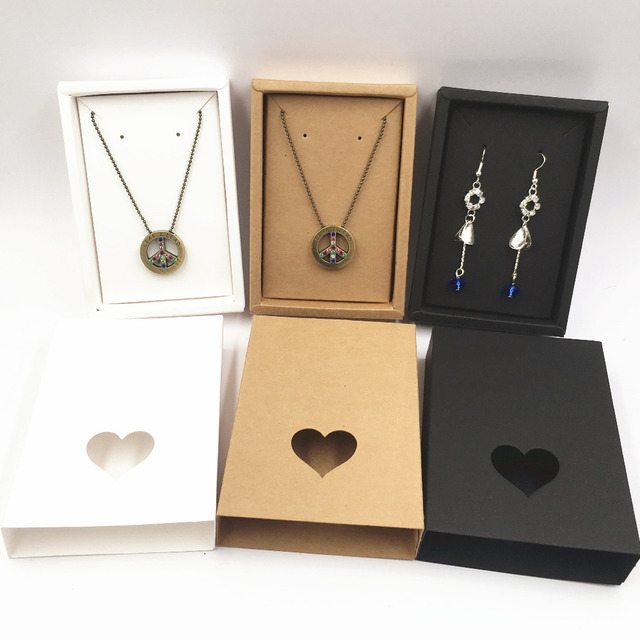 50set 11 5x8x2 2cm Jewelry Paper Gift Bo Package Carry Case Display Necklaces Card And