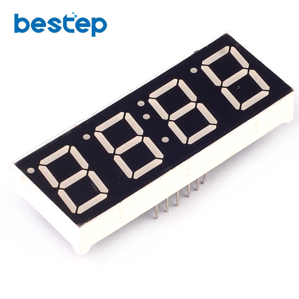 5PCS 0.56 Inch 7 Segment 4 Digit Super Red Clock LED Display Common Anode