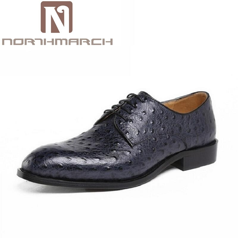 NORTHMARCH Luxury Fashion Men Oxford Shoes Lace-Up Casual Business Men Shoes Crocodile Pattern Brand Men Dress Shoes chaussure dekesen brand men casual shoes lace up 100% cow leather men flats shoes breathable dress oxford shoes for men chaussure homme