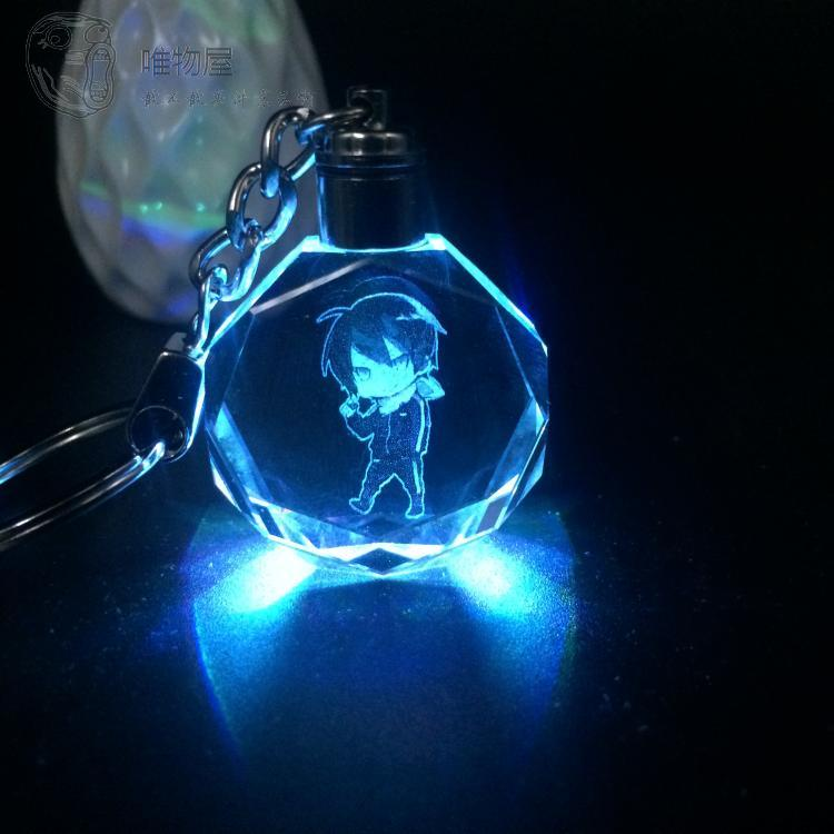 Hot keyrings LED shine sound Stitch keychain key ring hanging pendant key Pink