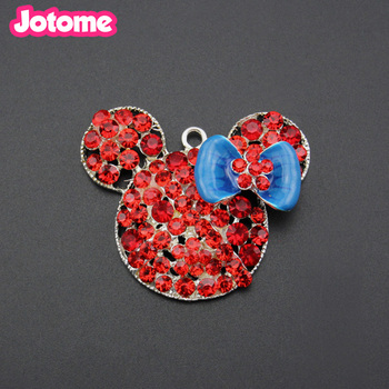 Rhinestone charm  mouse Necklace pendant jewelry