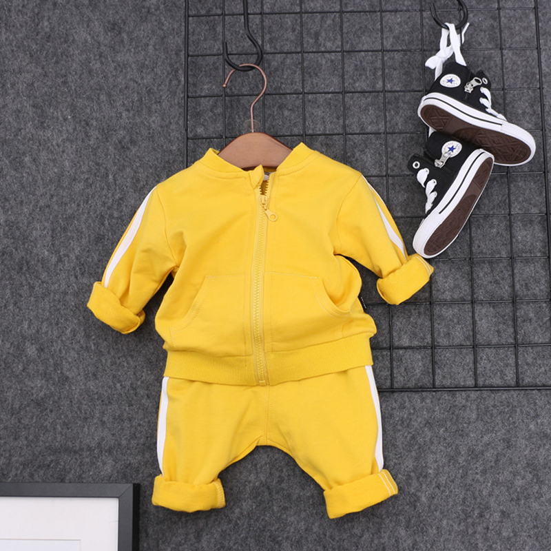 Breathable Cotton Toddler Kids Baby Girls Boys Clothes Sets T-shirt Pants Outfits Casual Kids Sport Suit Set Children's Clothing finejo baby girls kids blouse jeans pants casual clothes sets suit outfits