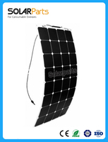 Boguang 18V 100W sunpower Mono Cells semi flexible solar panel china 12V battery camping RV boat car outdoor charger energy
