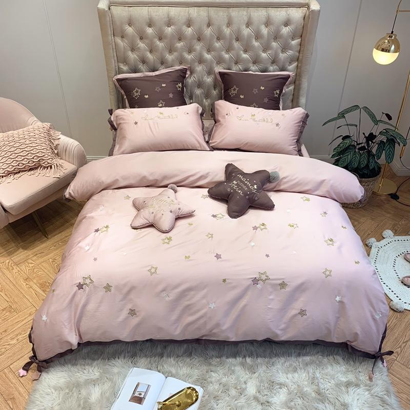 Luxury Egypt Cotton Romantic Star Bedding Set Embroidery Bowknot Duvet Cover Sets Bed Sheet Queen King size 4/6/7Pcs bedlinenLuxury Egypt Cotton Romantic Star Bedding Set Embroidery Bowknot Duvet Cover Sets Bed Sheet Queen King size 4/6/7Pcs bedlinen