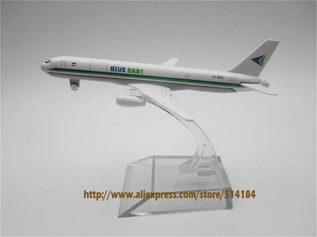 12cm alloy metal model plane air blue dart airlines boeing 757 b757