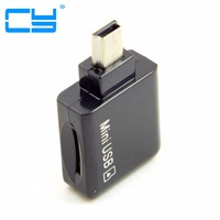Mini USB 5pin OTG Flash Drive Host Micro SD TF Card Reader Adapter Cable For Car