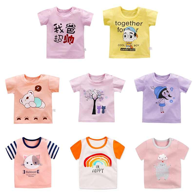 1Pc Baby Clothes Toddler Baby Kids Boys Girls T-Shirt Tops Cartoon Printed Casual Tee Shirts Outfits Clothes