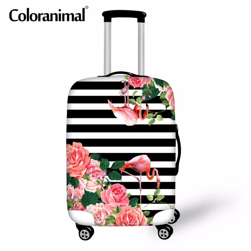 Coloranimal Luggage Cover Elastic Protective Case WaterProof Cover 3D Art Rose Floral Print Suitcase Accessorise For 18-30 Inch