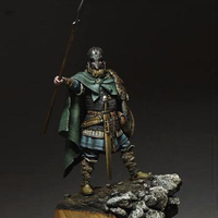 Assembly Unpainted Scale 1 24 75mm Fantasy Viking Spearman Warrior 75mm Figure Historical WWII Resin Model