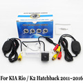 Câmera De Estacionamento Para KIA Rio/K2 Hatchback 2011 ~ 2016/RCA AUX Fio Ou Sem Fio Da Câmera/HD Visão CCD Noite câmera de Visão Traseira câmera