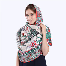 Luxury Brand 100% Twill Silk Scarf Multicolor Horse Square Scarf New Design Print Kerchief Woman Neck Shawl Wraps Echarpe