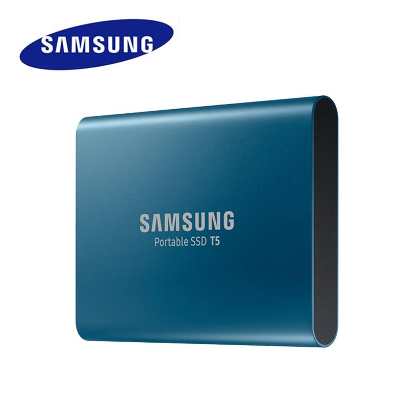 SAMSUNG T5 Externe SSD USB3.1 Gen2 (10 Gbps) 250 GB 500 GB Disque Dur Externe Solid State 1 TB 2 TB HDD DISQUE pour Ordinateur Portable tablet