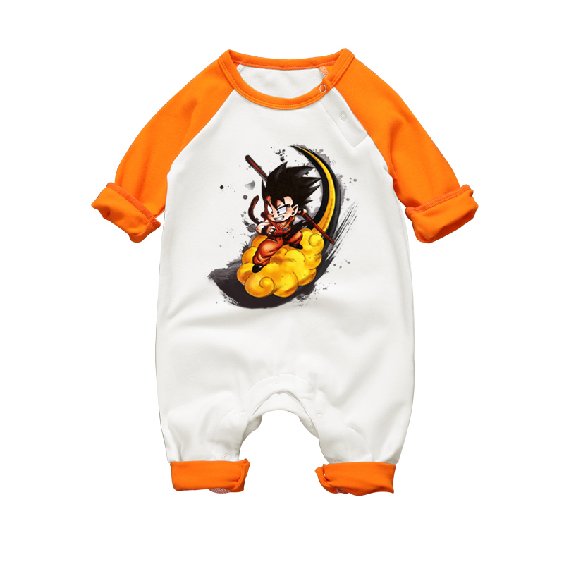 2017 Autumn Baby Boy Girl Romper High Quality Cotton jumpsuits Dragon Ball Son Goku Toddler Pajamas Long Sleeve Infant Clothes 2017 baby girl summer romper newborn baby romper suits infant boy cotton toddler striped clothes baby boy short sleeve jumpsuits