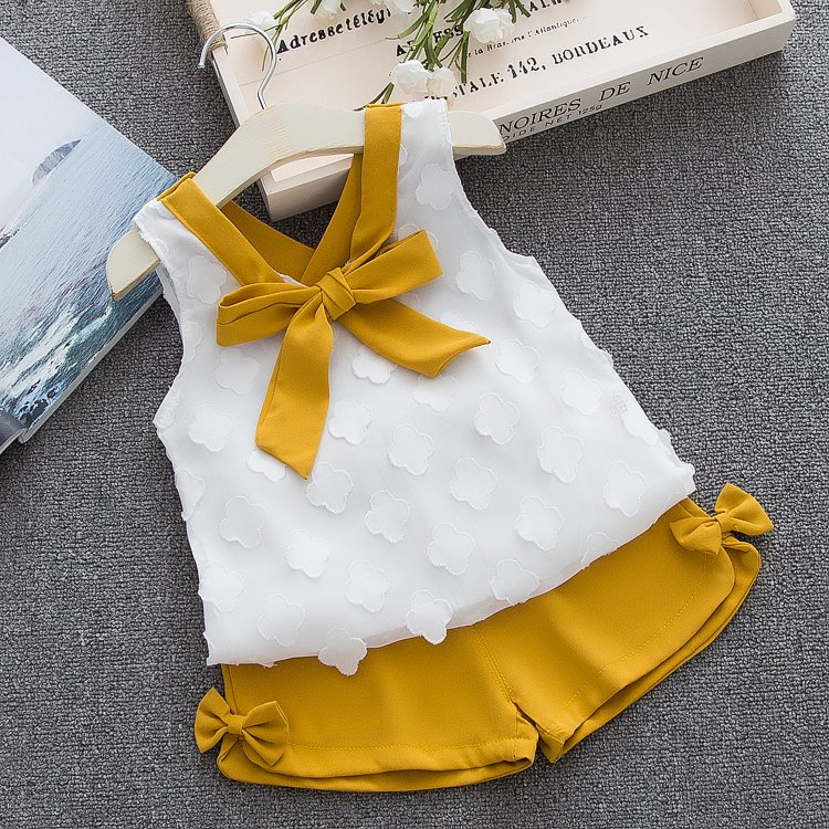 HTB1rT73d.uF3KVjSZK9q6zVtXXa1 - Humor Bear Baby Girl Clothes Hot Summer Children's Girls' Clothing Sets Kids Bay clothes Toddler Chiffon bowknot coat+Pants 1-4Y