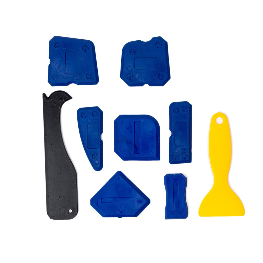 9pcs/set New Handmade Tools Scraper Utility Practical Floor Cleaner Tile Cleaner Surface Glue Residual Shovel Drop Shipping Sale