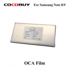 50pcs/bag Novecel OCA Optical Clear Adhesive For Samsung Galaxy Note 8 9 GAODI MT KAWIN YMJ Glue LCD Touch Glass Lens Film