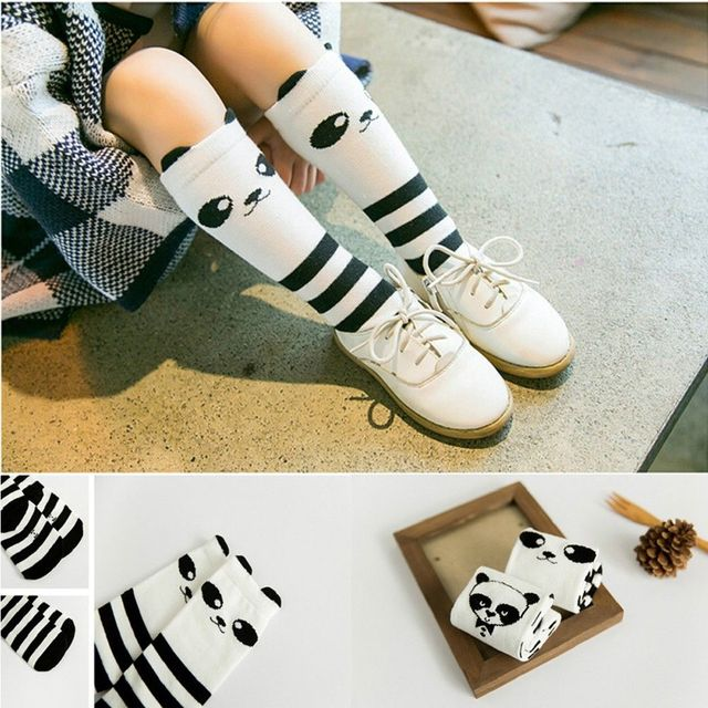 4f73c500b New lovely Baby Kids Toddlers cute Panda Girls Knee High Socks soft Tights  Leg Warmer Stockings