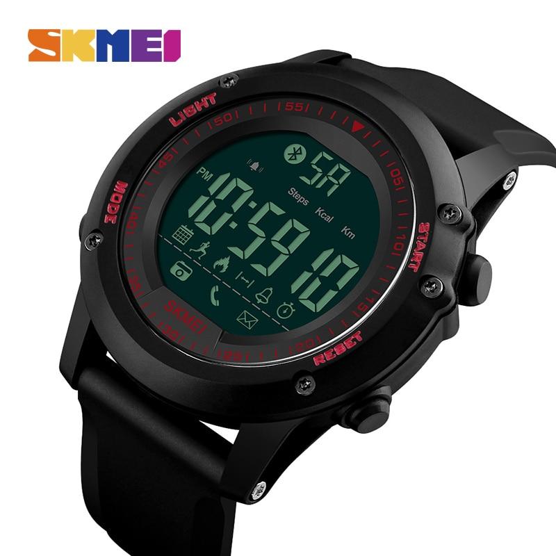 51efa4c406c SKMEI Homens Relógio Inteligente Pedômetro Digital À Prova D  Água Câmera  Remoto Bluetooth Calorias Relógios de Pulso Relogio masculino 1321 em  Relógios ...