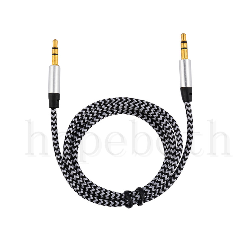 Image 3 - 100pcs/lot Audio Cable Jack 3.5 mm Male to Male Nylon Cloth Audio Aux Cable For iPhone Car Headphone Speaker Wire Line Aux Cord-in Phone Adapters & Converters from Cellphones & Telecommunications