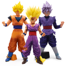 цены 20-32cm Anime Dragon Ball Z Super Saiyan Son Goku Gohan Action Figures Cartoon DBZ Goku PVC Collection Model Toy For Kids Gift