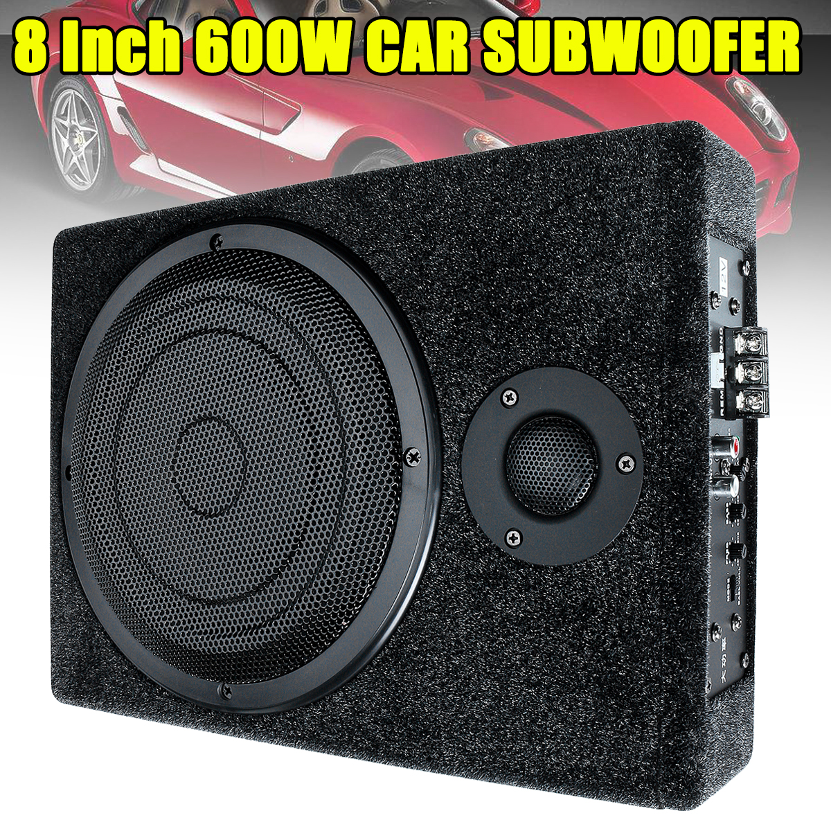 8 600W Active Car Enclosure Subwoofer Under-Seat Stereo Bass Powered Amplifier Sound Amplifier for Speakers subwoofer