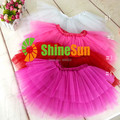 2014 new free shipping retail summer baby girls ball gown fashion fluffy tulle skirt toddler tutu pettiskirts