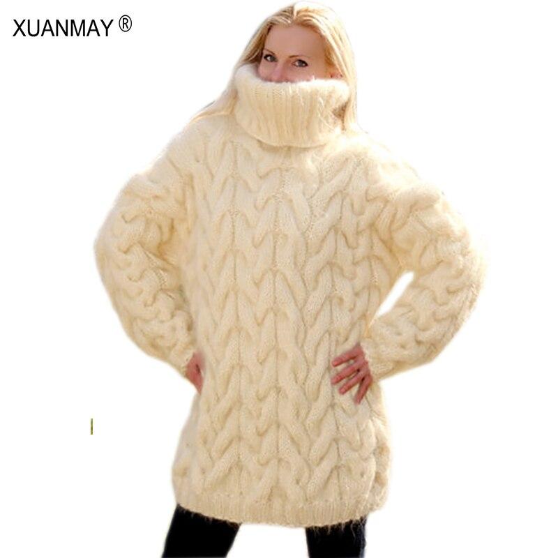 2020 téli divat Kézzel készített horgolt horog pulóver Női - Női ruházat