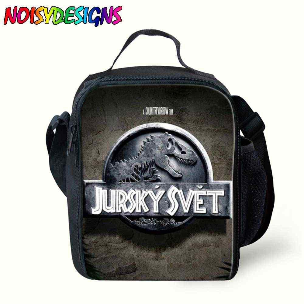 Jurassic World อาหารกลางวันฉนวนกระเป๋าสำหรับถุงอาหารสำหรับไดโนเสาร์เด็กกระเป๋าอาหารกลางวันสำหรับเด็กหญิงฤดูใบไม้ผลิปิกนิกกระเป๋า