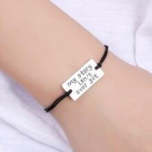 My Story is Not Over Yet Charms Bracelets Luck Horseshoe Love Key Adjustable Handmade Jewelry Women Boys Men Friendship Gift