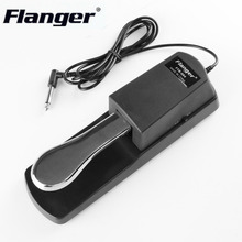 FLANGER FTB-004 Portable Size Metal Alloy Piano Keyboard Sustain Pedal Electric Musical Instruments Pedal Sustain drop shipping