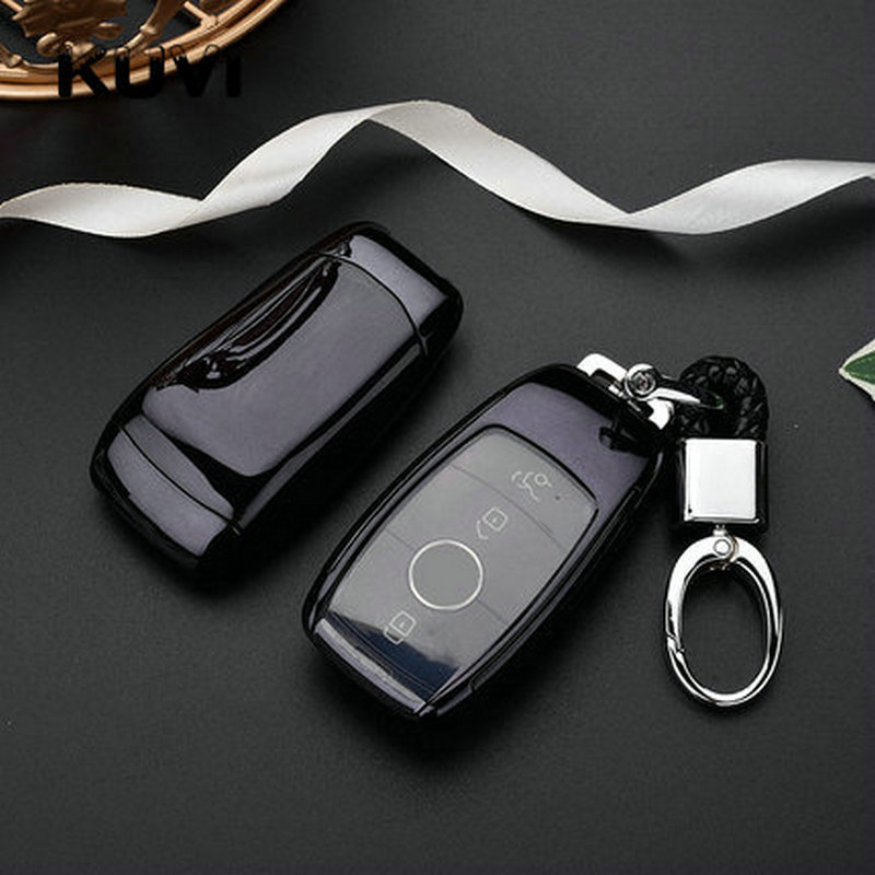 TPU+PC Car Key Cover Case Shell Bag Protective For Mercedes Benz 2017 E Class W213 2018 S class AMG Accessories Styling(China)