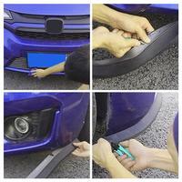 2 5 M Car Front Bumper Protector Front Bumper Spoiler Lip Protector Rubber Pad Scratch Guard