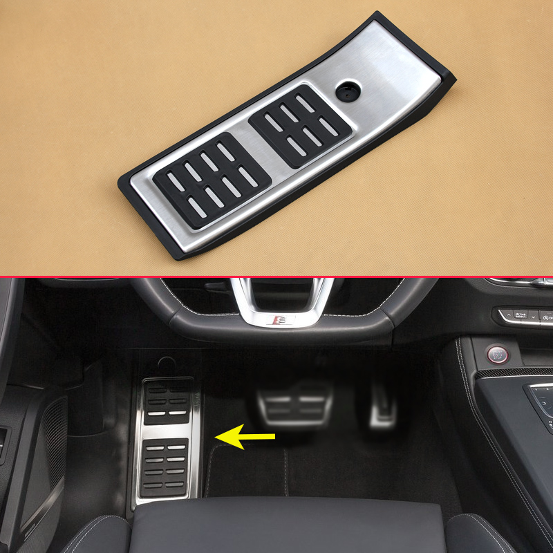 Car Pedal Non-Slip Footrest Cover Mat For 2017 2018 2019 Audi Q5 SQ5 FY 80B864777 No Drill Stainless Steel Overlay AccessoriesCar Pedal Non-Slip Footrest Cover Mat For 2017 2018 2019 Audi Q5 SQ5 FY 80B864777 No Drill Stainless Steel Overlay Accessories