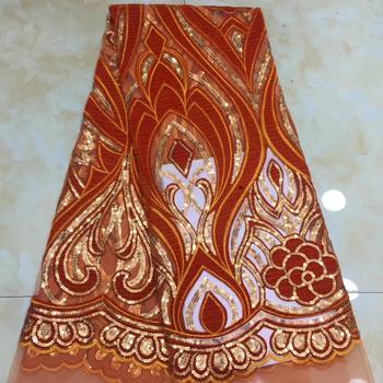 beautiful  african velvet lace fabric sequins velvet deisgn 5yards african velvet lace for dress sewing    XZXJUN301