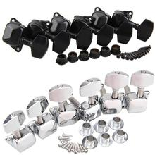 2 Colors Chrome Guitar Tuning Keys Pegs Classic Guitar String Tuning Pegs Machine Heads Tuners Keys Parts 3 Left 3 Right left handed locking tuning keys guitar tuners pegs machine heads black